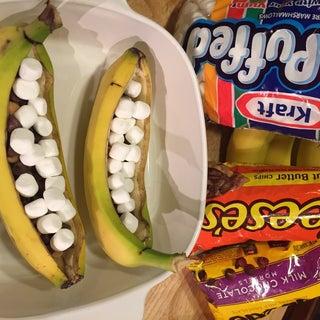 10 Minute Baked Banana Boats