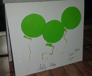 How to Make an Easy Baloon Card