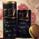 Upcycled Chalkboard Tea Tins