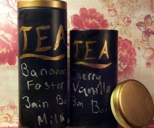 Upcycled Chalkboard Tea Tins
