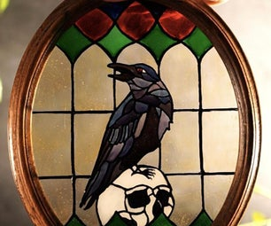 Stained Glass Crow