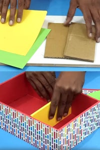 Cover the Cardboard Pieces With Color Sheets!