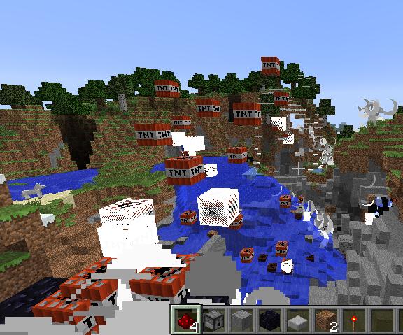Minecraft Creative Mode Ultimate TNT Cannon