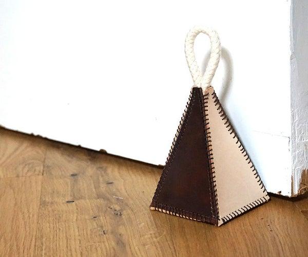 DIY Leather Doorstop   2-Colour Pyramid Design
