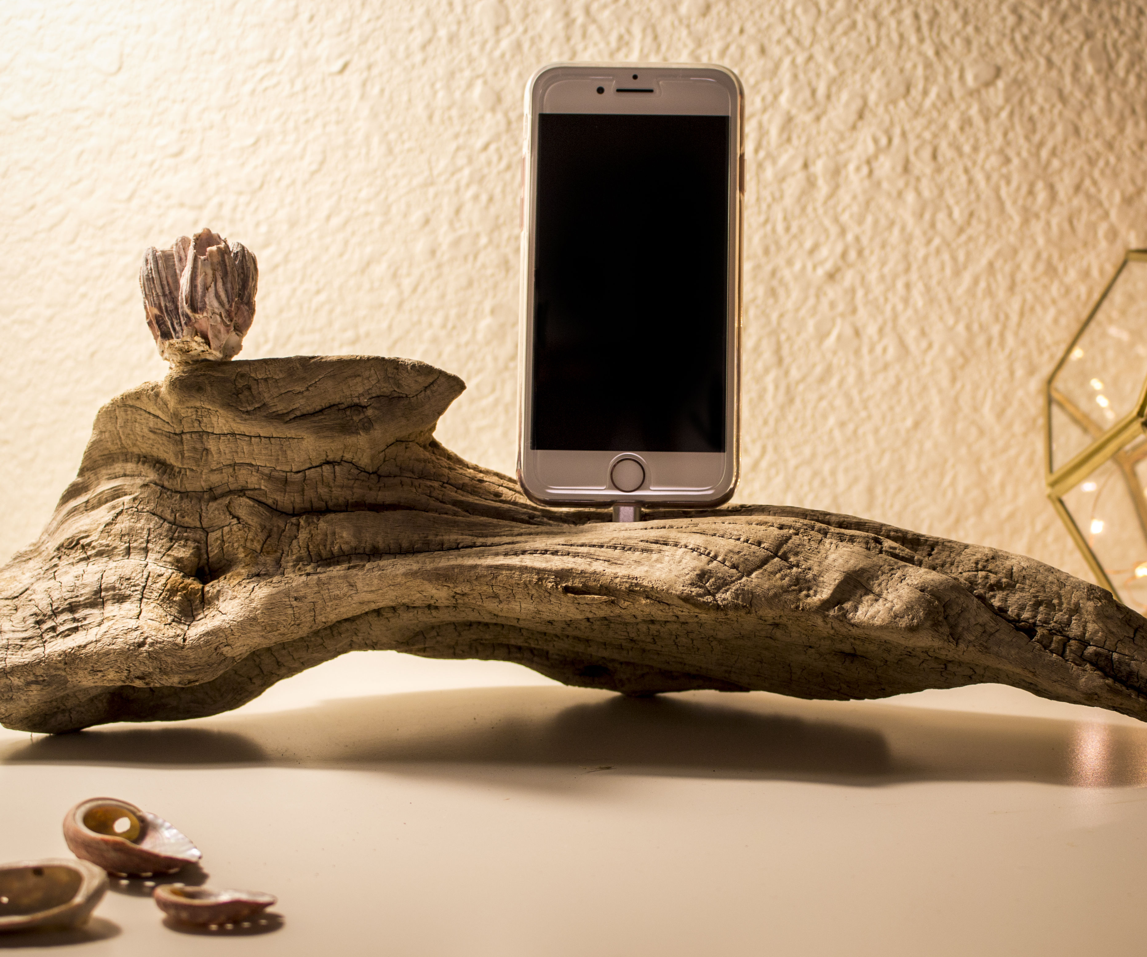 Driftwood IPhone Charger
