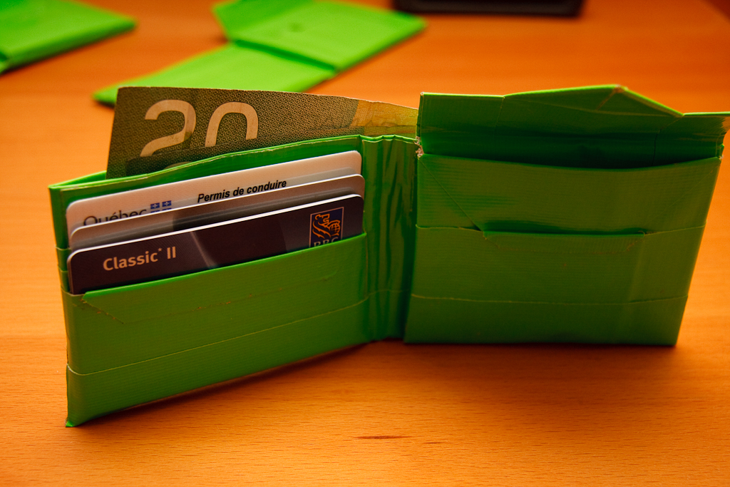 Quality Duct Tape Wallet with (optional) Change Pouch