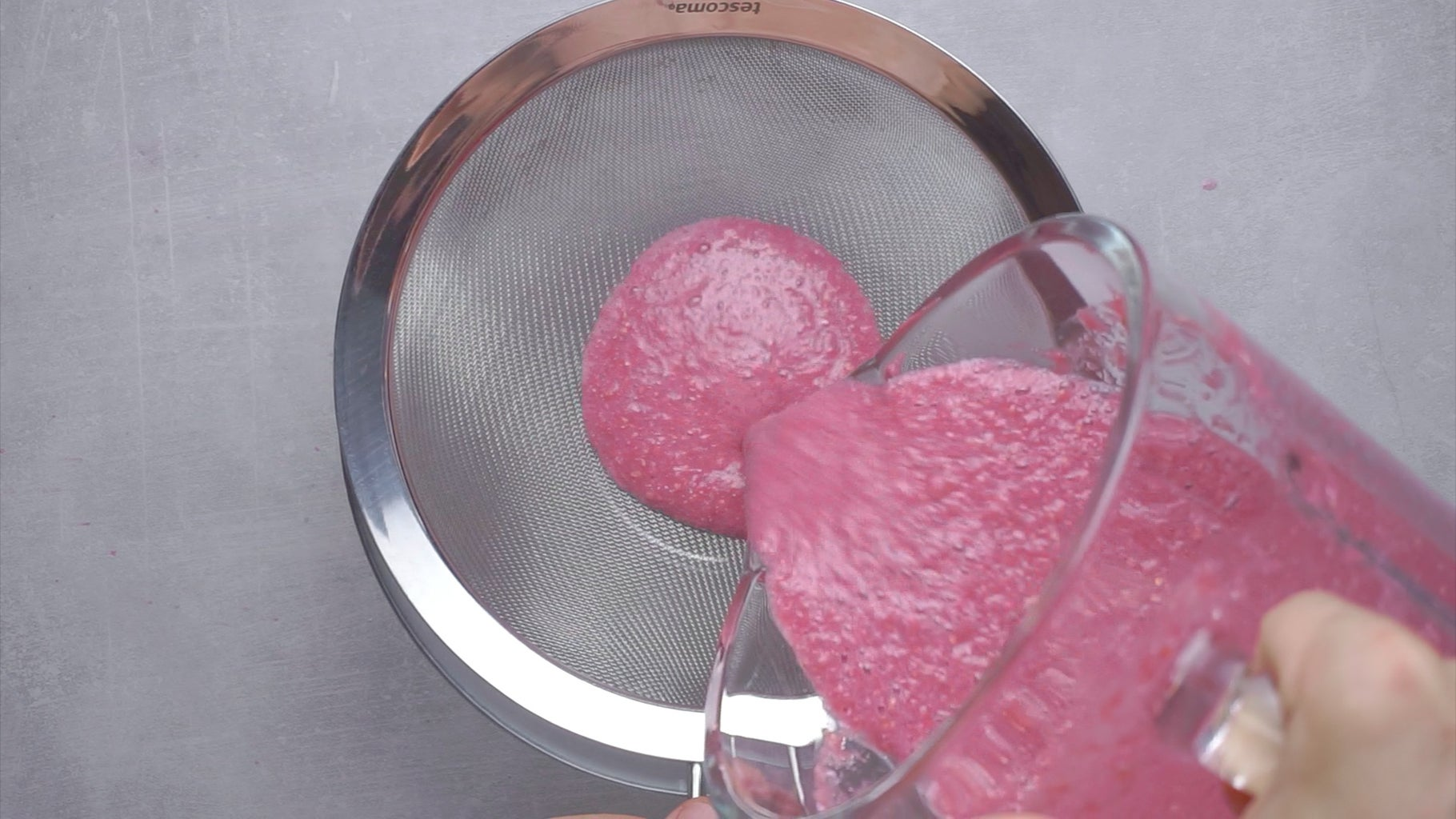 Transfer the Crushed Seeds From the Blender Into a Sieve