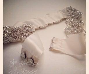 Bridal Sash Restyle – Tie Sash Into a Hook&Eye Closure