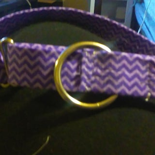 How to Make an Adjustable Martingale Dog Collar