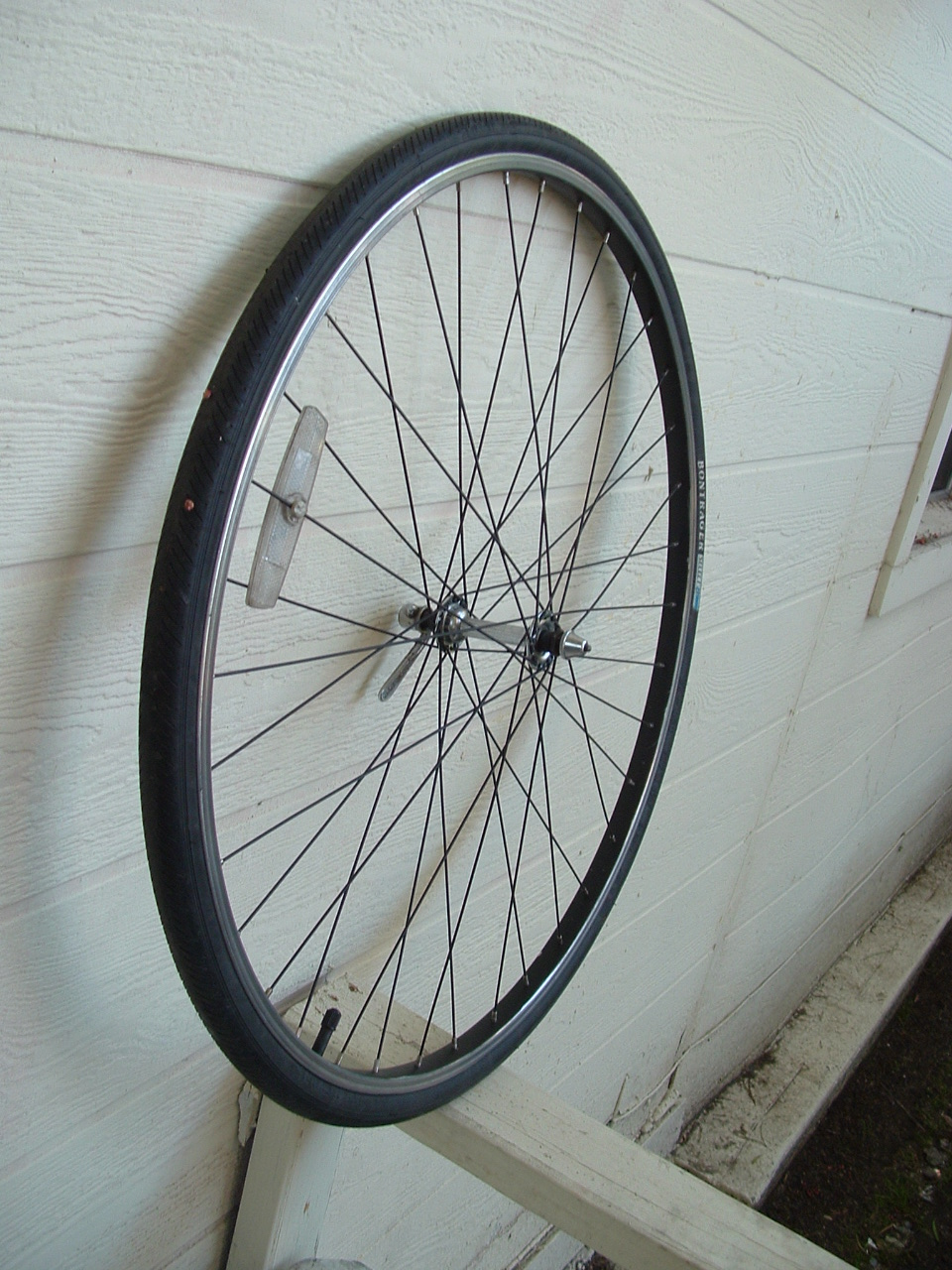 Poor Man's Painted Bicycle Wheel (Lacing Included)
