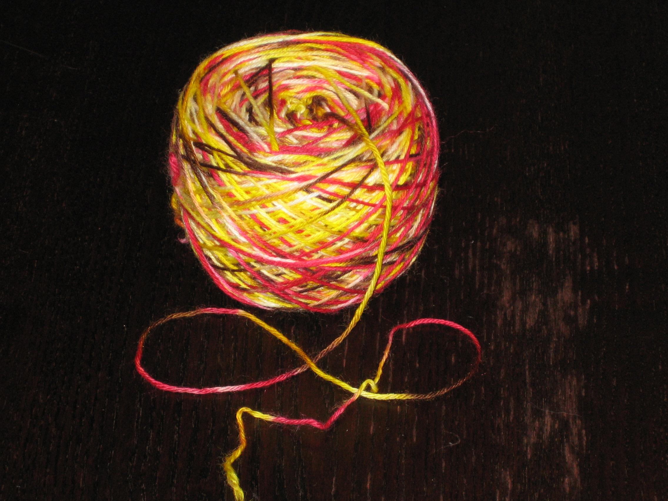 How to Dye Yarn: Handpainting