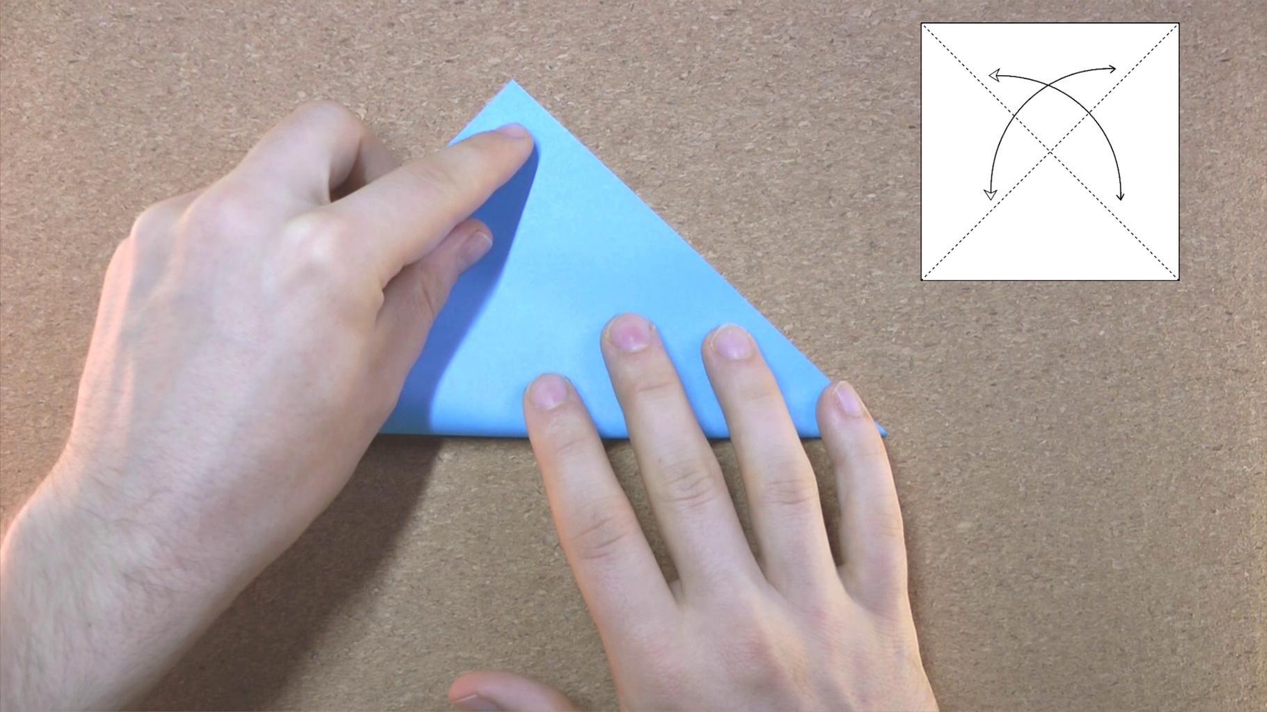 Fold and Unfold Diagonally