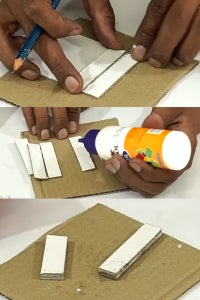 Let's Cut Small Pieces of Cardboard & Stick It!