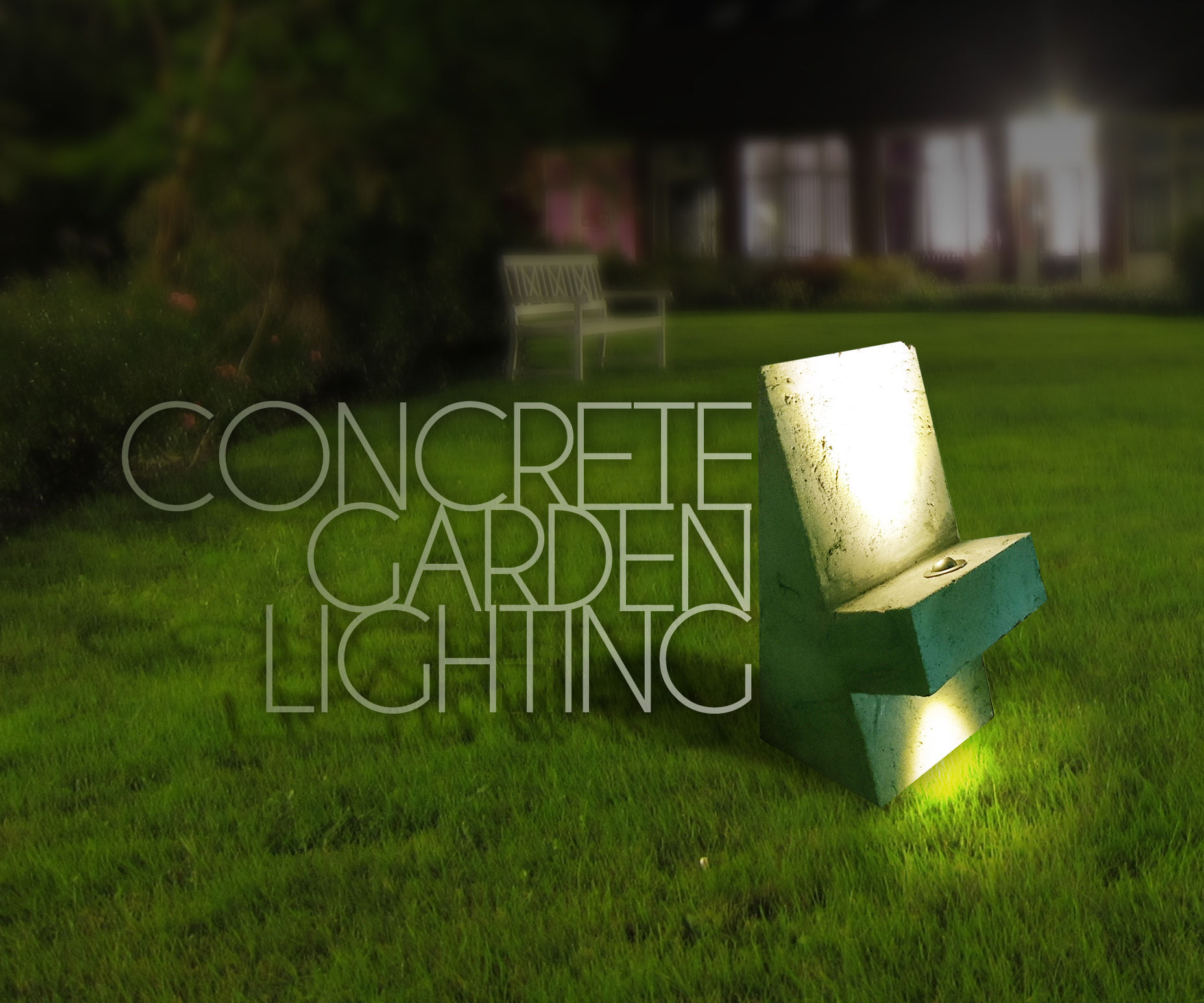 Concrete Garden Lighting