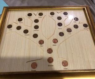 """7th Anniversary """"Copper"""" Family Tree"""