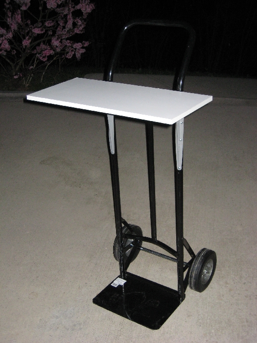 Hand Truck to Cheap portable computer stand (station)