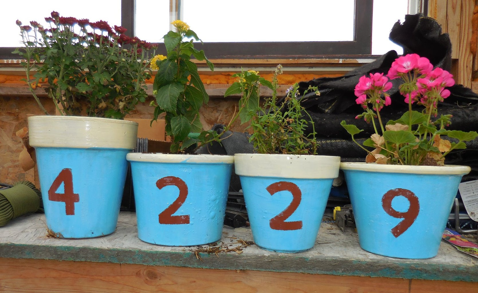 Flower Pot Address Markers