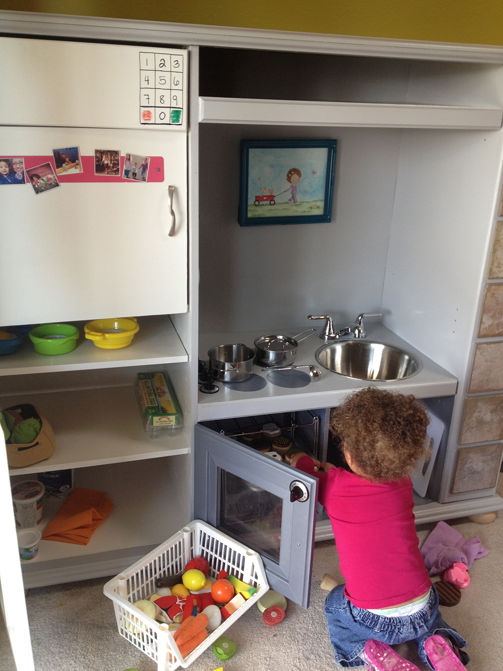 Play Kitchen Set from Entertainment Center