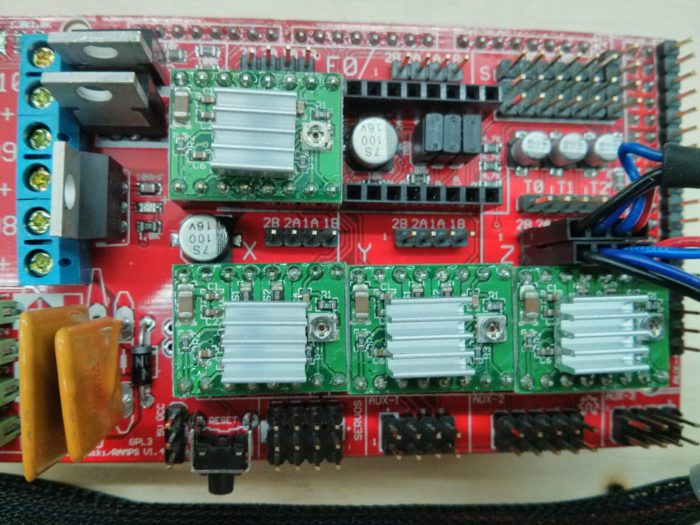 Arduino, RAMPS and Motor Wiring