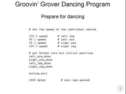 Making Groovin' Grover Dance!