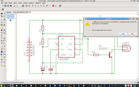 Replacing the Parts in the Schematic