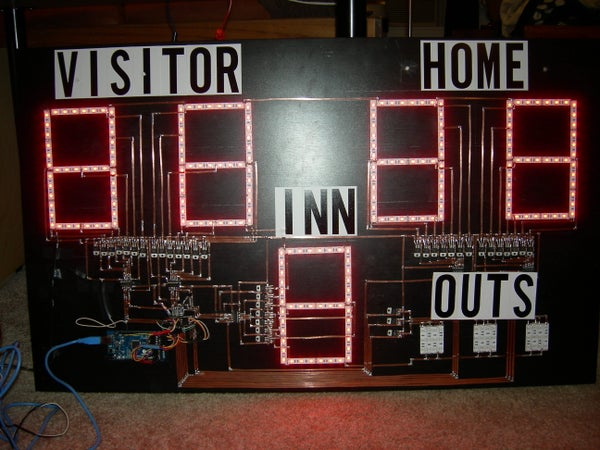 Remote Controlled Arduino Scoreboard Using LED Strips