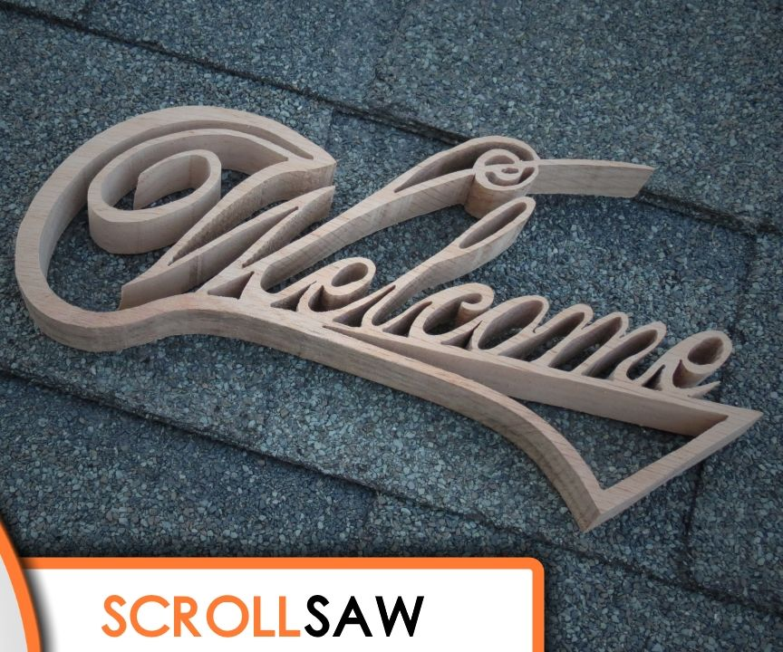 Welcome Sign Scroll Saw Project