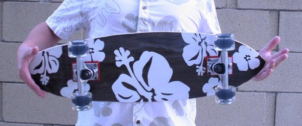 Hawaiian Print Skateboard Graphics