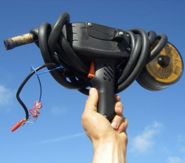 Spool Gun Handheld Wirefeed Welder Powered by Car Batteries