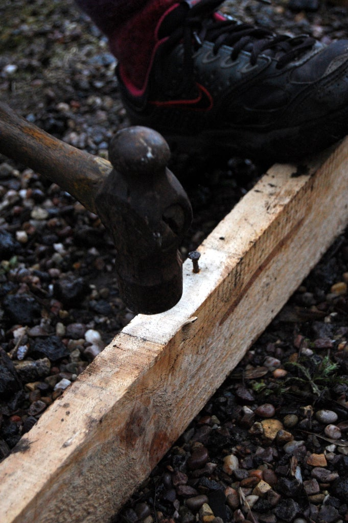Hammer Flat Any Nails That Are Sticking Out.