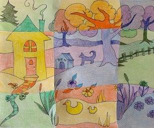 Cubist Colorpencil Collage
