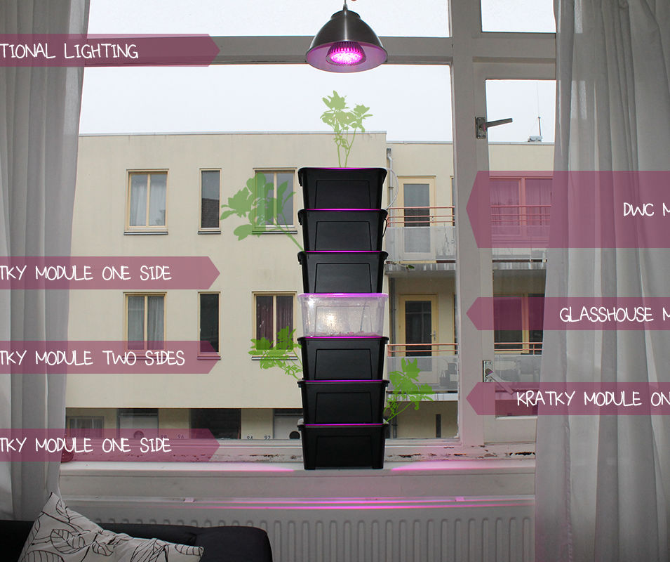 IKEA HACK MODULAR STACKABLE HYDROPONIC WINDOW GARDEN