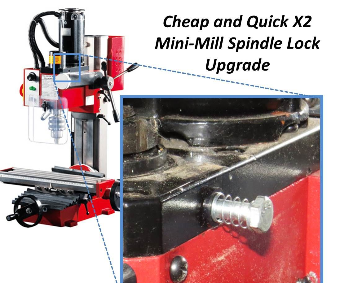 15 Minute Spindle Lock Upgrade for your X2 MiniMill
