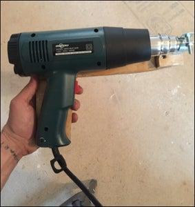 Mount Heat Gun to Wood Form