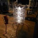 Soda Bottle Flower Vertebrae LED Table Lamp