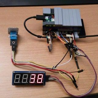 Arduino - TM1637 7 Segment Display & DHT11 Temp Sensor