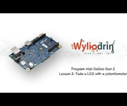 Fade a LED With a Potentiometer on Intel Galileo and Visual Programming