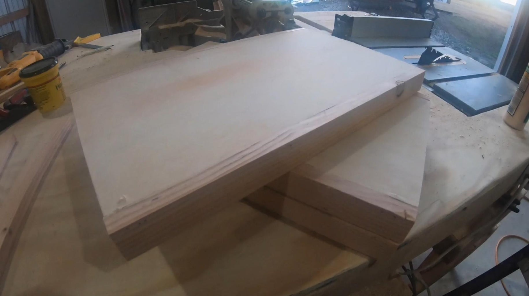 """Attach Those 20"""" 1x2s to the Long Sides of the Plywood"""