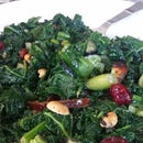 Asian Kale Salad with homemake sesame dressing