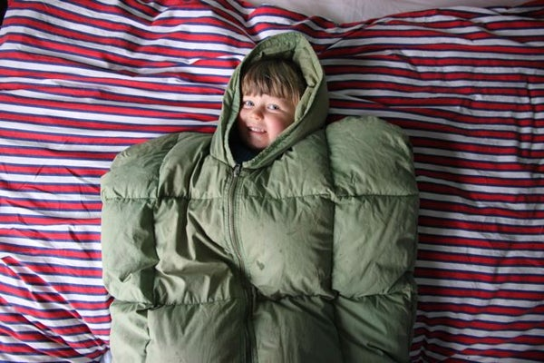 Wee-proof Sleeping Bag Protector for Little Campers