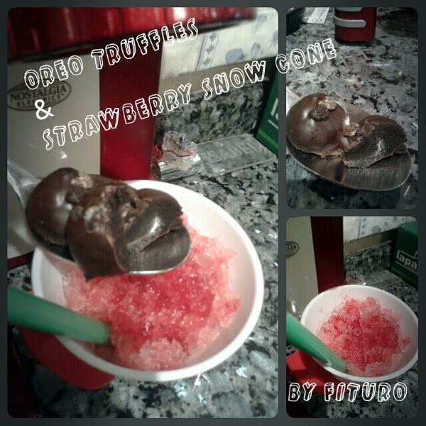 Oreo Truffles & Strawberry Snow Cone