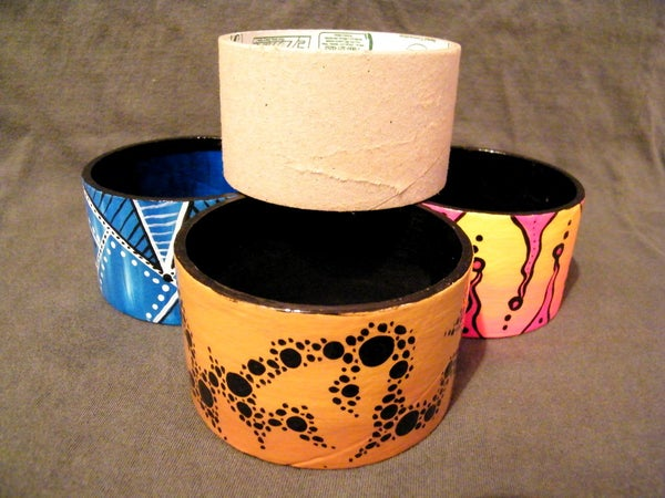 Rhonda's Recycled Tape Core Cuffs