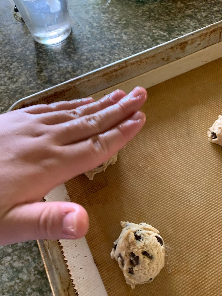 Place Dough on Cookie Sheet