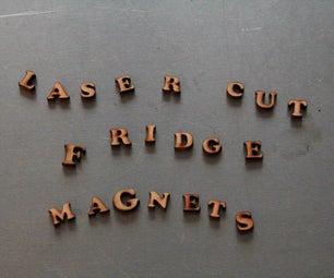 Laser Cut Fridge Magnets