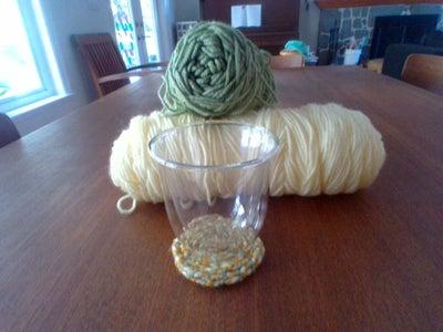 5 Minute Yarn Coaster