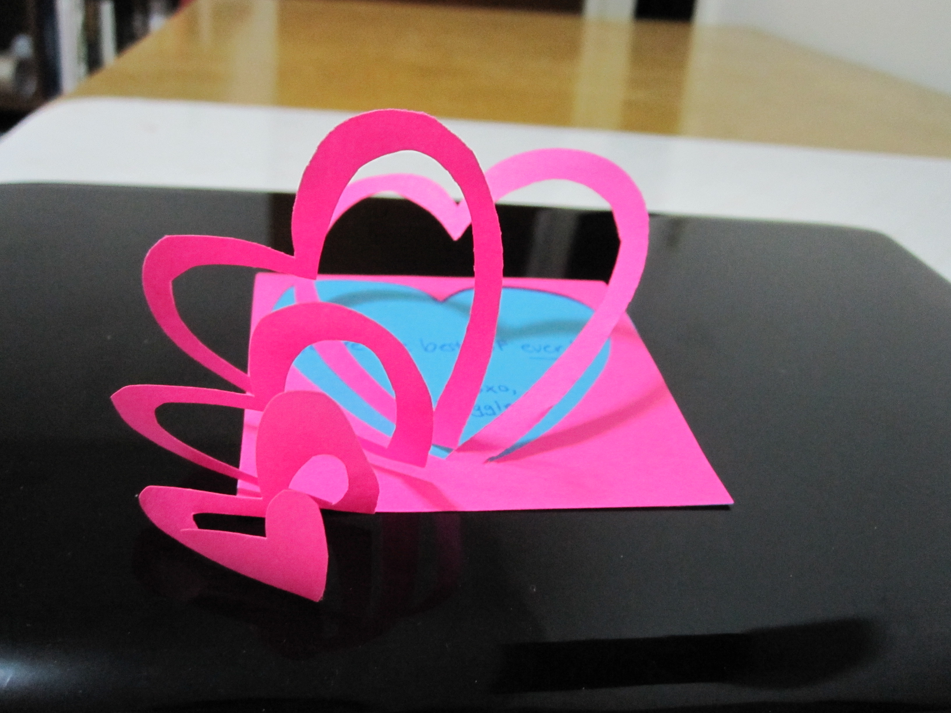 How to make a Heart Pop-Up Love Post-it Note (easy)