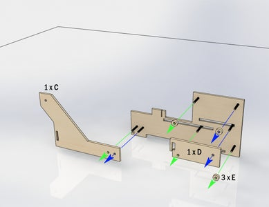 Use Pieces 1 X C / 1 X D / 3 XE