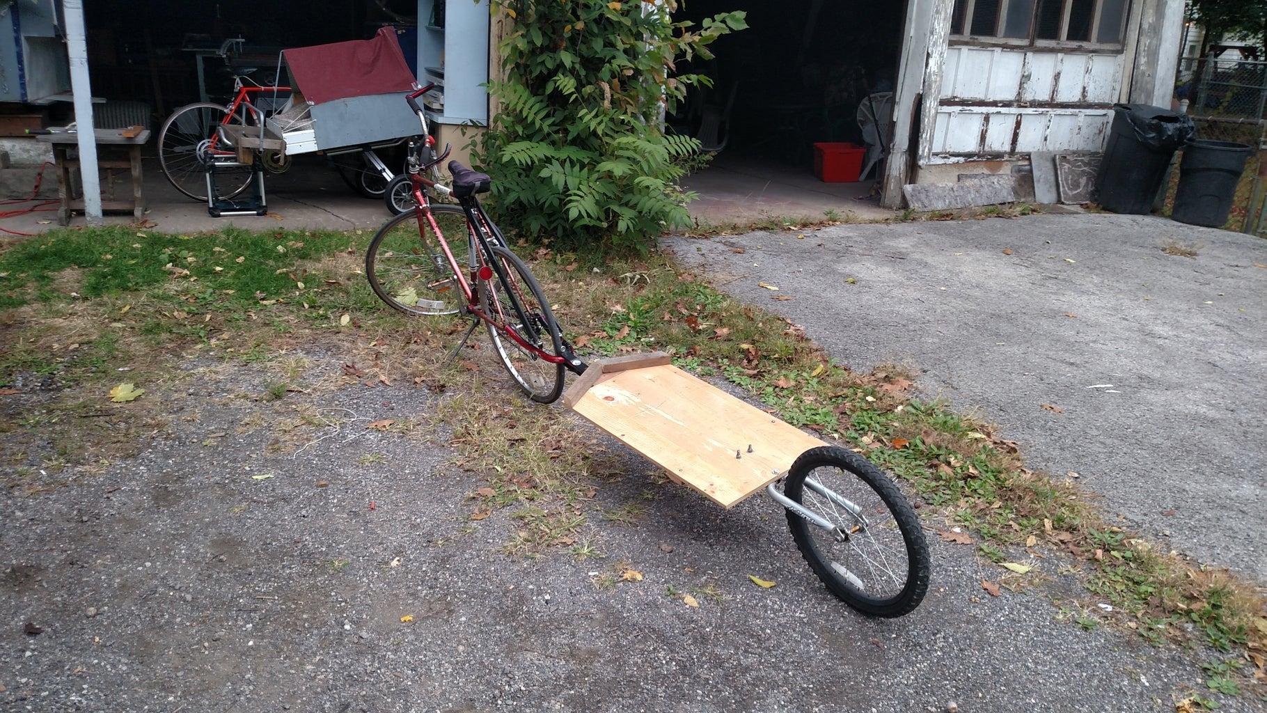 DIY Single Wheel Bicycle Trailer Easy