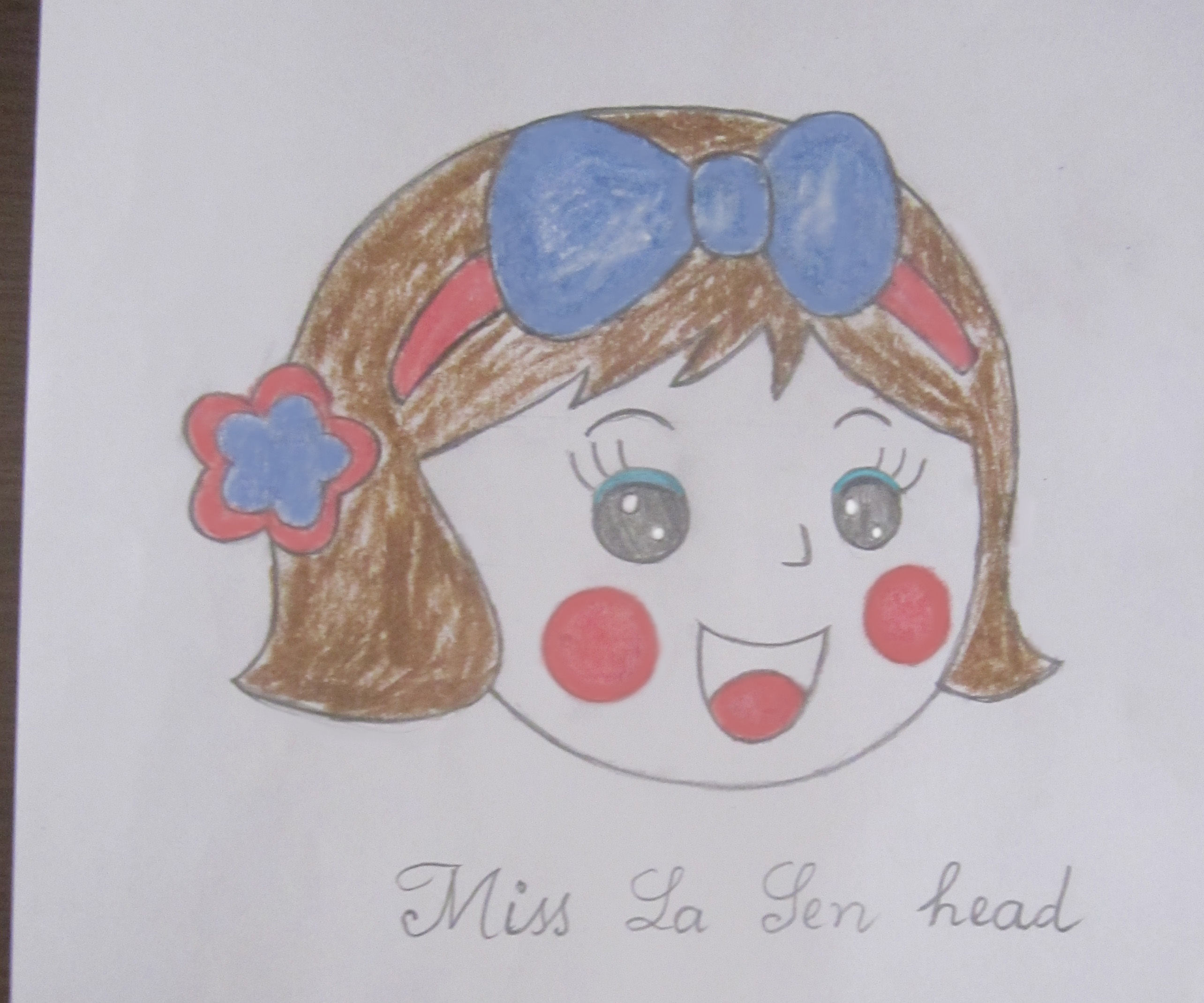 Draw Miss La Sen Head