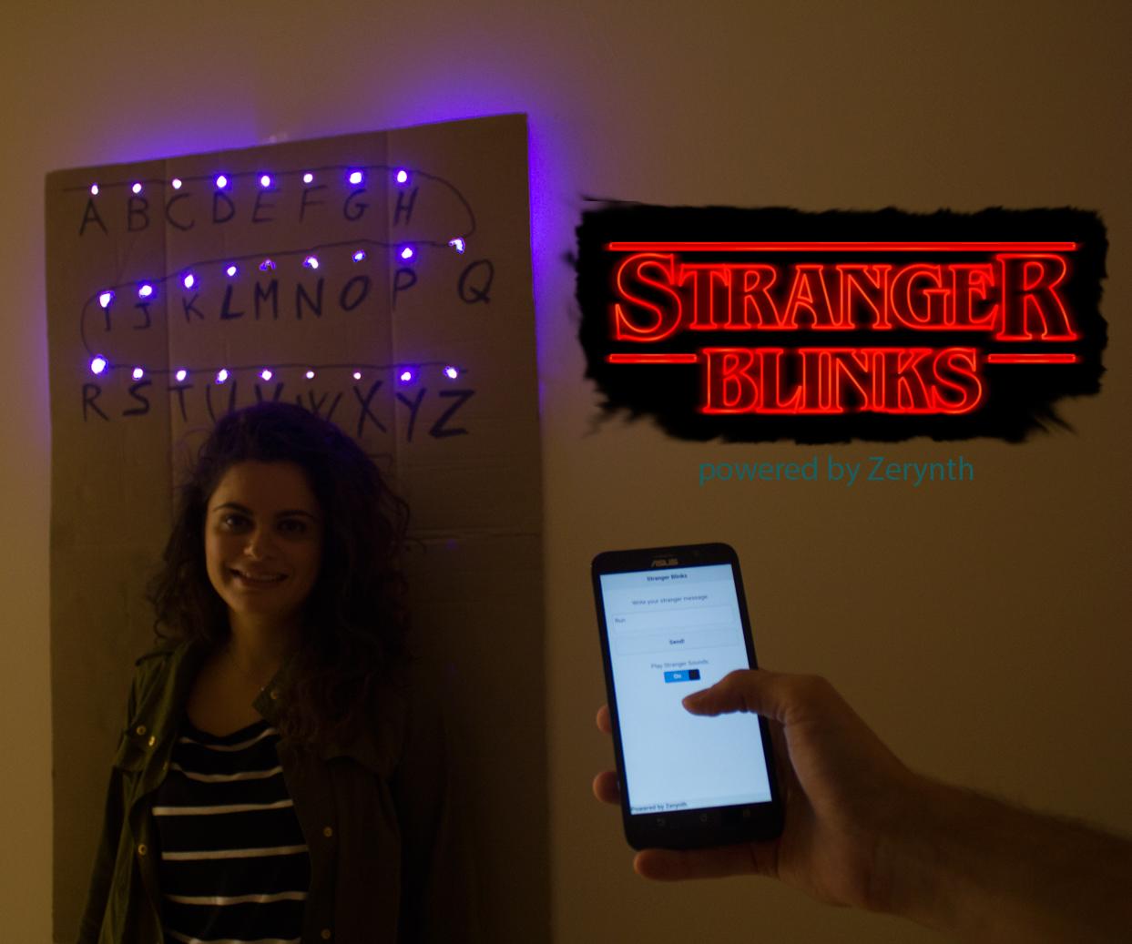 Stranger Blinks: a last-minute interactive Halloween costume inspired by Stranger Things